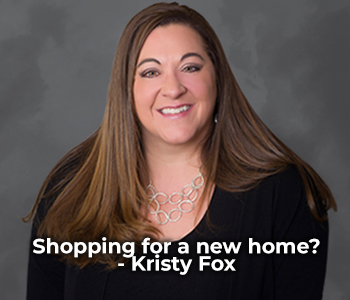 Professional photo of Kristy Fox with the text